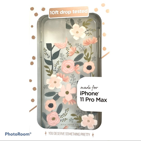 NEW! CLEAR IPHONE 11 Pro Max Transparent Case Foil Stamped Accents Slim Design